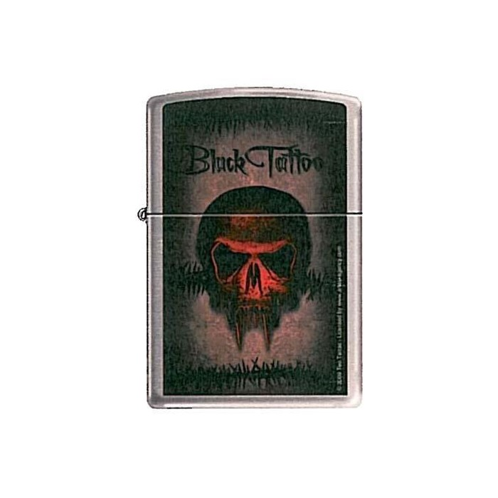 ZIPPO BLACK TATTOO CALAVERA