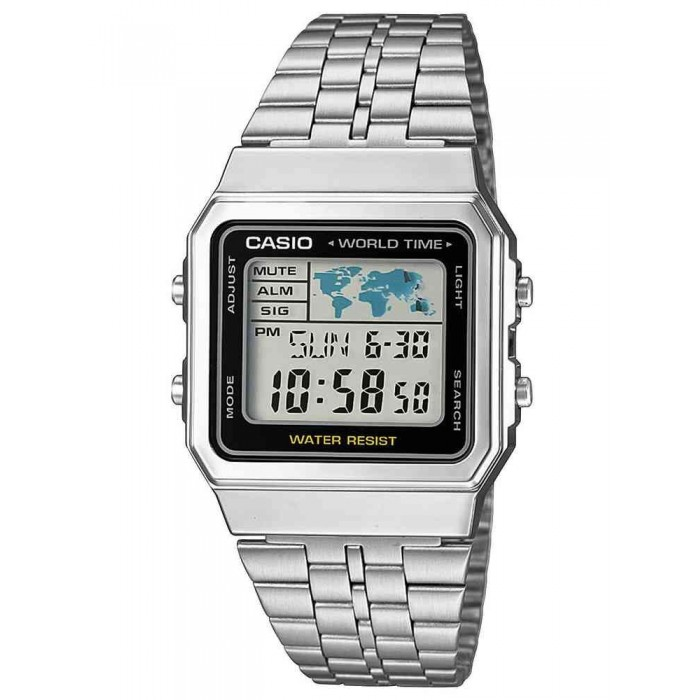 RELOJ CASIO RETRO WORLD TIME A500WEA-1EF