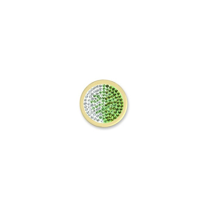 MI MONEDA DIAMOND SWAROVSKI BLANCO/VERDE MEDIANA