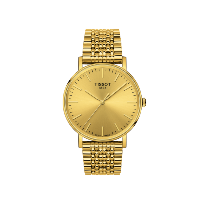 RELOJ TISSOT EVERYTIME MEDIUM QUARTZ PVD DORADO T1094103302100