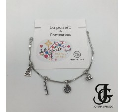PULSERA DE PONTEAREAS PLATA DE LEY